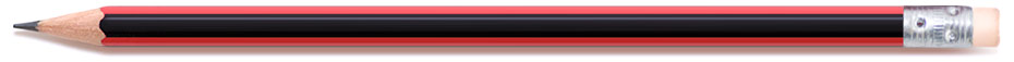 Words & Photos menu bar – a black and red pencil with eraser.