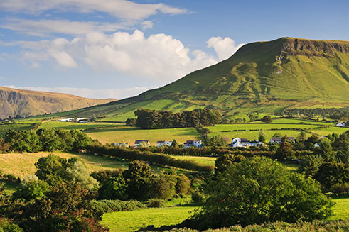 Lurigethan mountain in Cushendall, Northern Ireland. An image commissioned by Halsgrove Publishing.